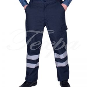 Pantalon Cargo Canvas Force Team Con Cinta Reflectante